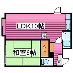 北海道札幌市東区北四十四条東1丁目の賃貸アパートの間取り
