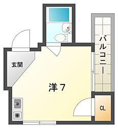 パーソナル20号館[2階]の間取り