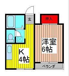 メゾンKM[3階]の間取り