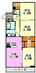 仮)駿河台2丁目シャーメゾン[201号室]の間取り