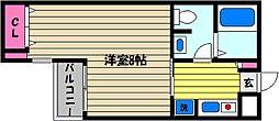 芦屋セントラル[2階]の間取り