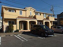 愛知県岡崎市美合町字上長根の賃貸アパートの外観