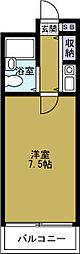 サンライズ千代崎[6階]の間取り