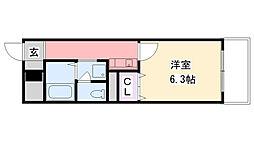 ソリオ武庫川[505号室]の間取り