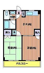 コーポ KIRI[1階]の間取り