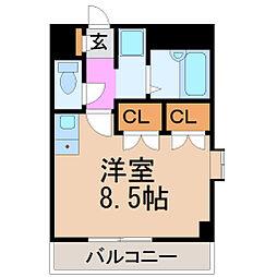愛知県名古屋市昭和区川原通1丁目の賃貸マンションの間取り