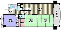 ディオフェルティ千代田錦織公園 壱番館[7階]の間取り