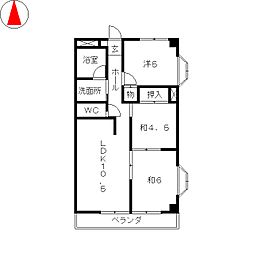 メゾン・ド・ソレイユ[4階]の間取り