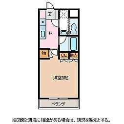 クロワール白板[3階]の間取り