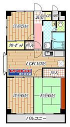 高井田駅徒歩10分 オリエント・マンション[5号室]の間取り