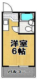ファースト・アップ梅香[5階]の間取り