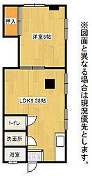 うめたにマンション[4号室]の間取り