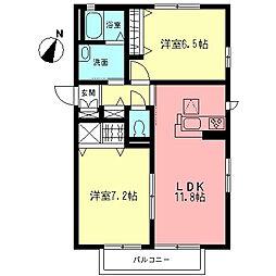 エクレールA[1階]の間取り