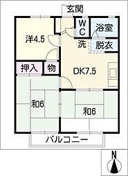 ハイツ・KR A棟[1階]の間取り