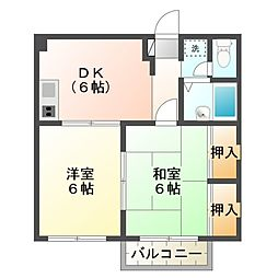 第2国森ハウス[3階]の間取り