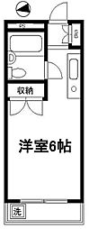 アイコート東長崎[203号室]の間取り