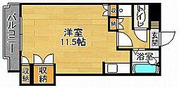 ロイヤルセブンハイツ[4階]の間取り