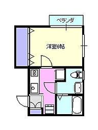 リフレコデラ湘南C201[2階]の間取り