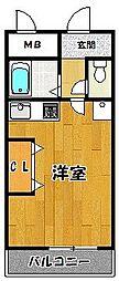 ジャルダン三田2番館[608号室]の間取り