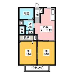 プランタントキワ B棟[2階]の間取り
