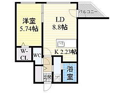 札幌市営東西線 宮の沢駅 徒歩3分の賃貸マンション 5階1LDKの間取り