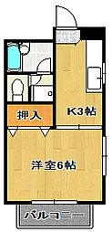 千葉県船橋市宮本3丁目の賃貸アパートの間取り