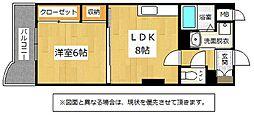 ヒット砂津BLD[8階]の間取り