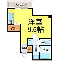 リエス千代田橋[4階]の間取り