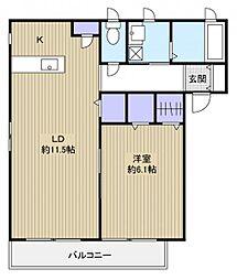 ミハス[2階]の間取り