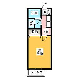 レジェンド・岩崎 A[2階]の間取り