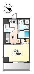仮称)新宿区山吹町マンション新築工事 8階1Kの間取り