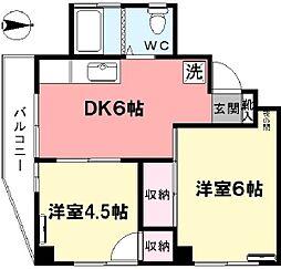 東京都杉並区井草3丁目の賃貸マンションの間取り