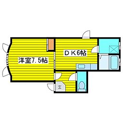 北海道札幌市東区北十一条東3丁目の賃貸アパートの間取り