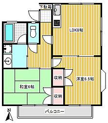 ワンシーダー廻沢[1階]の間取り