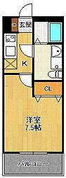 LOTUS Tsukaguchi2[201号室]の間取り