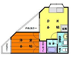 クリーンハイツ平井[3階]の間取り
