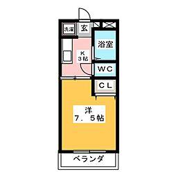 パープルメゾンII[1階]の間取り