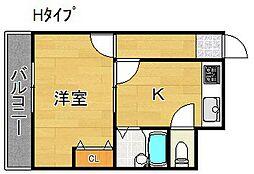 キューブ御崎[5階]の間取り