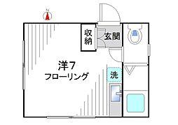 ルネッサ新宿[201号室]の間取り