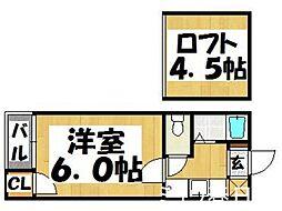 福岡県春日市大谷4丁目の賃貸アパートの間取り