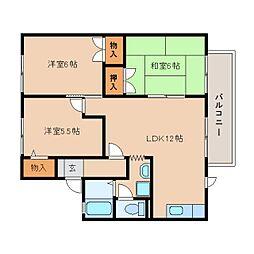 静岡県藤枝市小石川町の賃貸アパートの間取り