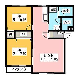 セレッソ21[1階]の間取り