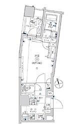 東武亀戸線 亀戸水神駅 徒歩8分の賃貸マンション 7階1Kの間取り
