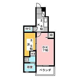フォルシュ・ジェイ3[1階]の間取り