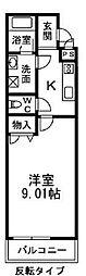 カルティエ3M[213号室]の間取り