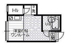 東京都狛江市元和泉2丁目の賃貸アパートの間取り