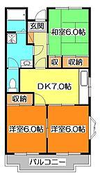 東本町ハイツ[4階]の間取り