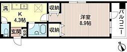 エスパシオ西新宿[103号室号室]の間取り