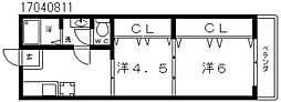 ヴォーグマンション[3階]の間取り