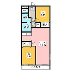 レジデンス鶴里[4階]の間取り